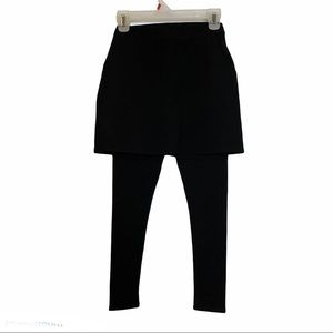 Legacy Modest Black Legging with Attached Skirt.